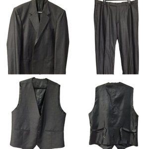 Bombay Innovations Men's Gray 3 Piece Suit